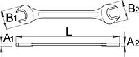 Ключ рожковый - 112/2 UNIOR, фото 2