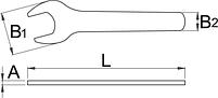 Ключ рожковый газовый - 135/2 UNIOR, фото 2