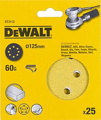Шлифовальные круги DEWALT DT3112, 125 мм, 8 отверстий, 60G, 25 шт.