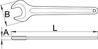 Ключ рожковый односторонний - 117/4 UNIOR, фото 2