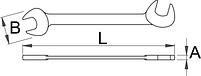 Ключ рожковый для электротехнической промышленности - 114/2 UNIOR, фото 2
