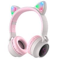 Наушники Hoco W27 серый-розовый