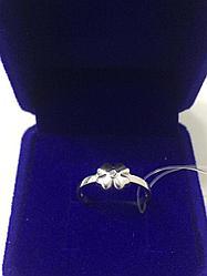 Кольцо Клевер 🍀 / серебро - 16,5 размер