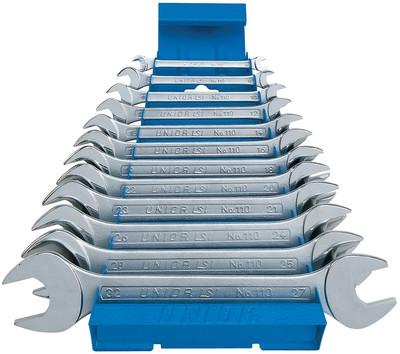 Набор ключей рожковых в металлическом стенде - 110/1MS UNIOR