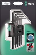 Набор ключей TORX WERA 967 PKL/9 SB TORX® 9 предметов WE-073598 [WE-073598]
