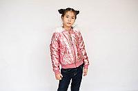 Куртка детская блестящая со стразами для девочки
