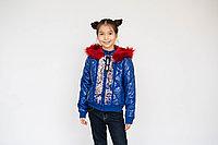 Куртка детская блестящая с пайетками для девочки