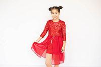 Платье с накидкой и пайетками для девочки