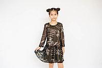 Платье с надписями для девочки