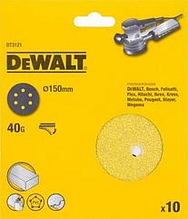 Шлифкруги DEWALT DT3121, 150 мм, 6 отверстий, 40G, 10 шт.