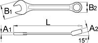 Ключ комбинированный удлинённый (полированные головки) - 120/1 UNIOR, фото 2