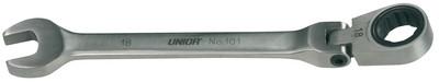Ключ кованый комбинированный с храповиком и шарнирной головкой - 161 UNIOR