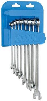 Набор ключей комбинированных IBEX в пластиковом подвесе - 129/1PH UNIOR