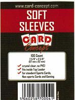 Протекторы для игральных карт soft sleeves card Concept 100 шт 67х92мм