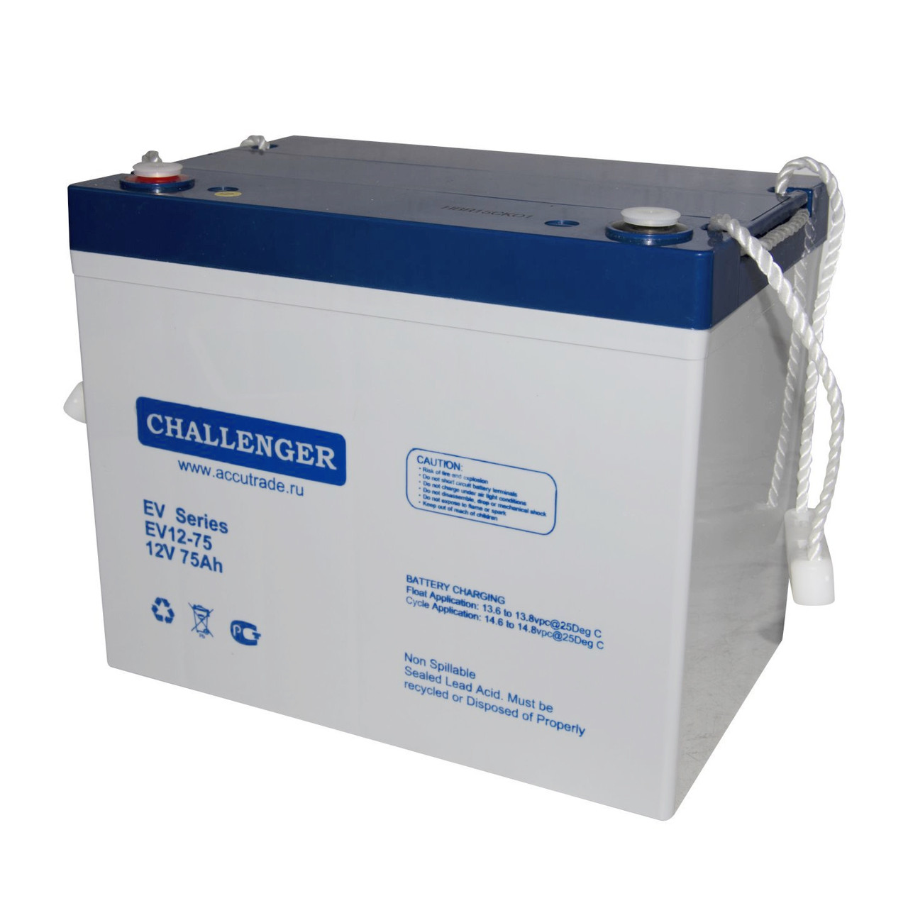 Аккумулятор Challenger EV12-75 (12В, 75Ач)