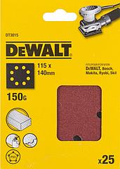 Шлифлисты перфорированные DEWALT DT3015, 115 x 140 мм, 150G, 25 шт.