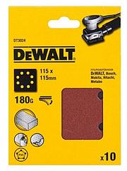 Шлифлисты перфорированные DEWALT DT3024, 115 x 115 мм, 180G, 10 шт.