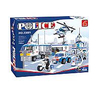 Игровой конструктор, Ausini, 23001, Патруль, Большой мобильный штаб полиции, 779 деталей, Цветная ко