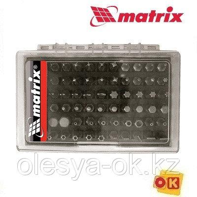 Набор бит с магнитным держателем, CrV, 61 шт. MATRIX, фото 2