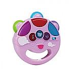 PITUSO Развивающая игрушка МУЗЫКАЛЬНЫЙ БУБЕН (розовый) (свет,звук) 12*11*3,5 см (в кор.96 шт)