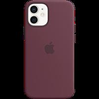 """Силиконовый чехол MagSafe для IPhone 12 mini Silicone Case with MagSafe - Plum """"сливовый цвет"""""""