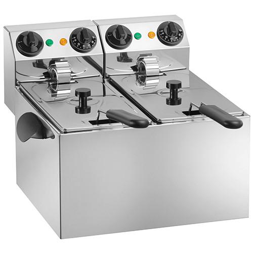 Фритюрница Amitek FE44 ( 430x430x310мм, 2х4 л, 2кВт+2кВт, 220В) 2 емкости