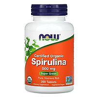 Спирулина, 500 мг, Now Foods, 200 таблеток