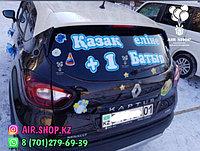Қазақ еліне +1 Батыр Наклейка на авто и банты на выписку из роддома