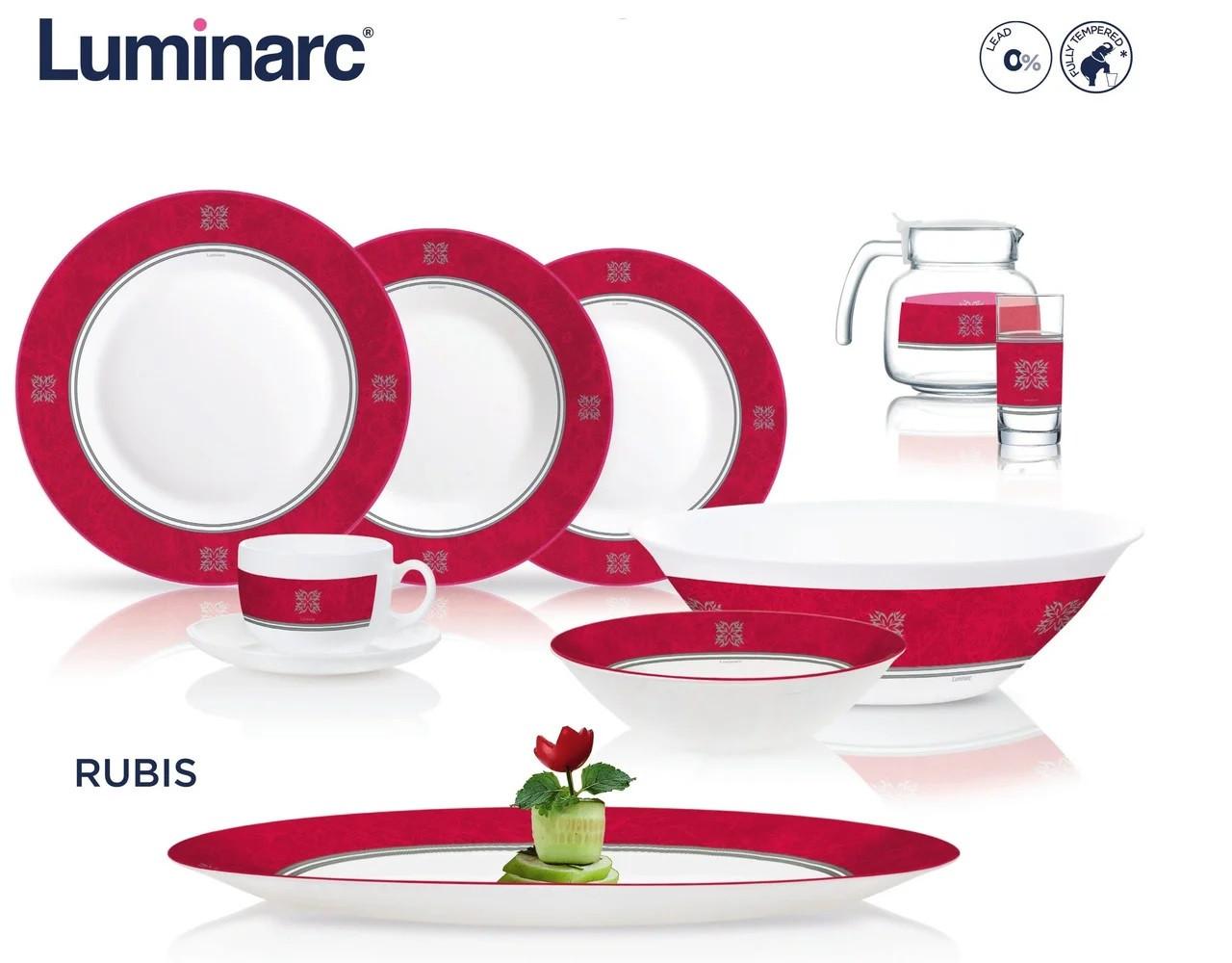 Столовый сервиз Luminarc Essense Rubis 46 предметов на 6 персон