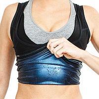 Фитнес-майка неопреновая Sweat Shaper с эффектом сауны для женщин (S-M)