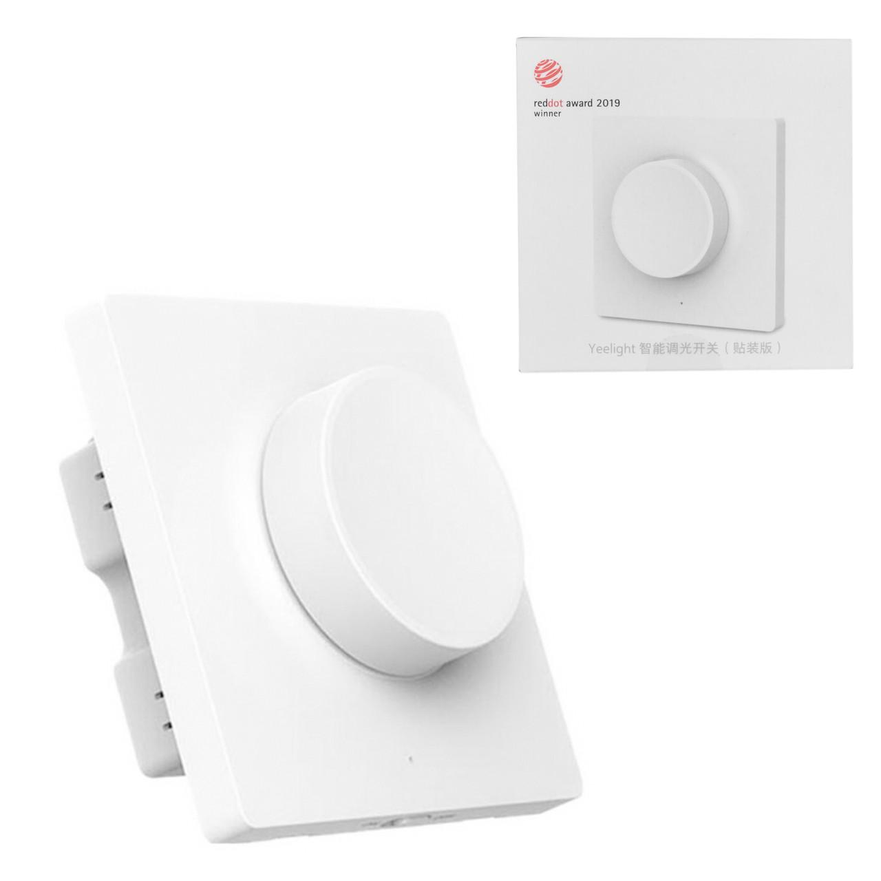 Настенный выключатель  диммер Xiaomi Yeelight Smart Dimmer Bluetooth Wall Switch (YLKG08YL), White