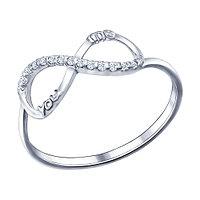 Серебряное кольцо с фианитом SOKOLOV 94011436
