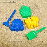 Набор для игры в песке №108 (3 формочки, грабли, совок)