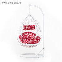 Подвесное кресло, с подушкой, искусственный ротанг, цвет белый, 44-004-07