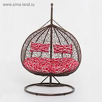 Подвесное кресло, с подушкой, искусственный ротанг, коричневый, 45-004-04