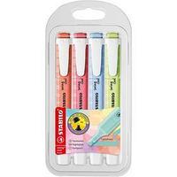 Набор маркеров-текстовыделителей 4 цвета STABILO Swing Cool пастельные цвета, 1-4 мм, блистер