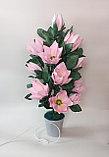 Большие цветы для интерьера. Светильник - ночник Магнолия.  Creativ 71, фото 3