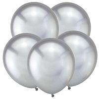 """Шар латексный 5"""" Зеркальные шары, хром серебро, набор 50 шт."""