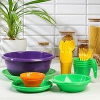 Набор посуды на 4 персоны 'Всегда с собой', 30 предметов