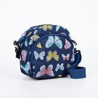 Сумка детская, отдел на молнии, наружный карман, длинный ремень, цвет синий