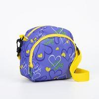 Сумка детская, отдел на молнии, наружный карман, длинный ремень, цвет фиолетовый