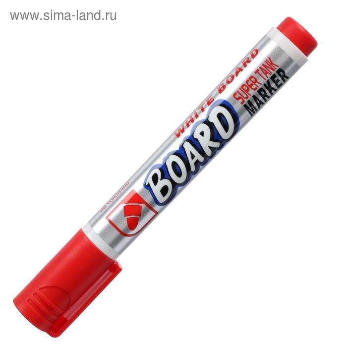 Маркер для доски 3.0 мм Crown Multi Board красный CBM-1000 - фото 3