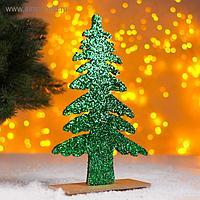Новогодний декор «Яркая ёлочка» зелёная 0,5х17х26 см