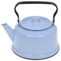 Чайник 3,5 л, закатное дно, цвет голубой