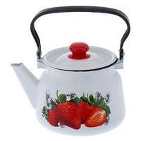 Чайник 'Клубника садовая', 2,3 л, цвет белый