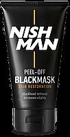 Чёрная маска для лица Nishman Peel-Off