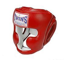 Шлем боксерский Twins HGL-6 для муай-тай размер L (Черный)