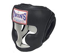 Шлем боксерский Twins HGL-6 для муай-тай размер M (Черный)