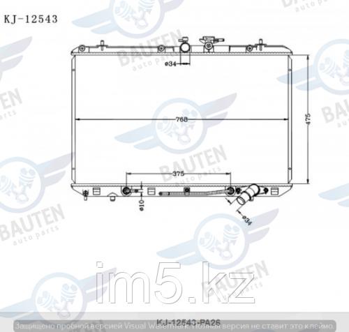 Радиатор охлаждения TOYOTA HIGHLANDER XU40 07-13 2.7л