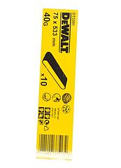 Шлифленты DEWALT DT3301, 75 x 533 мм, 40G, 10 шт.